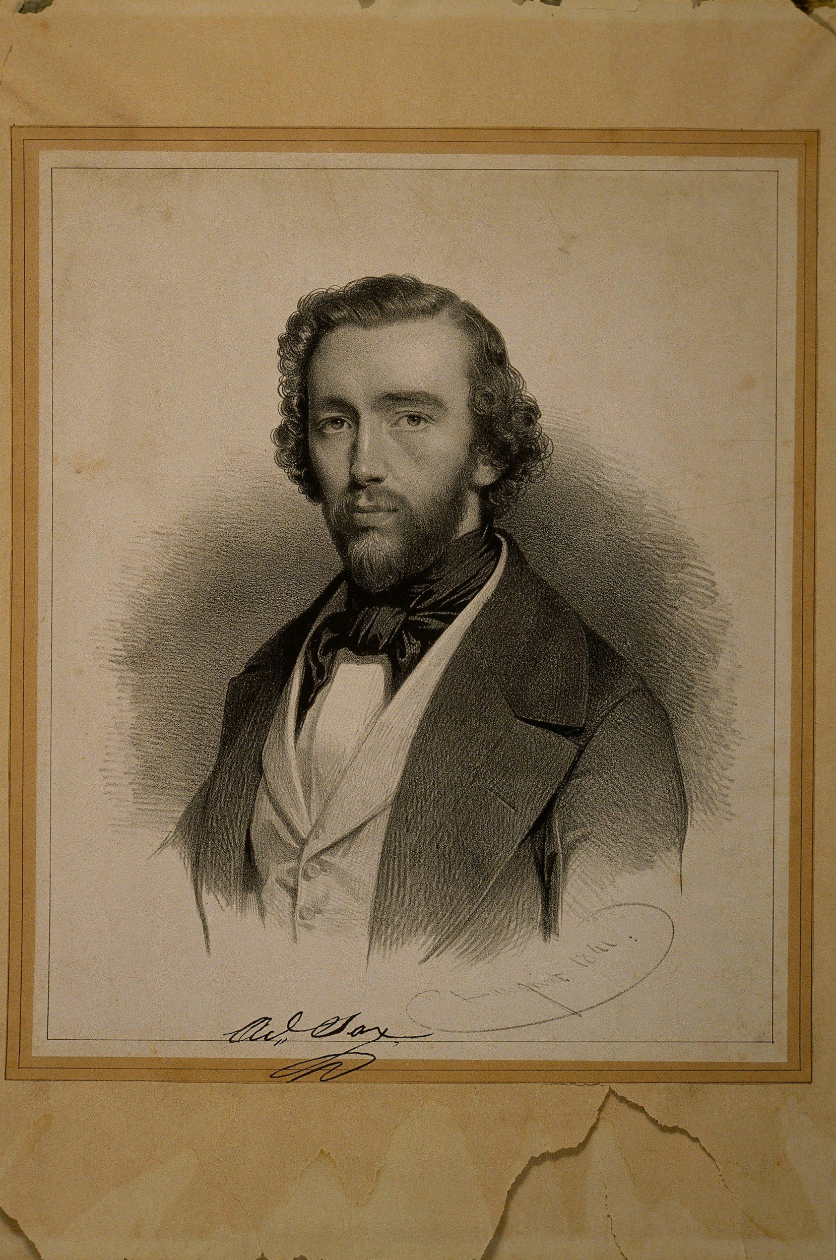 Portrait d'Adolphe Sax (1814-1894) | Baugniet, Charles
