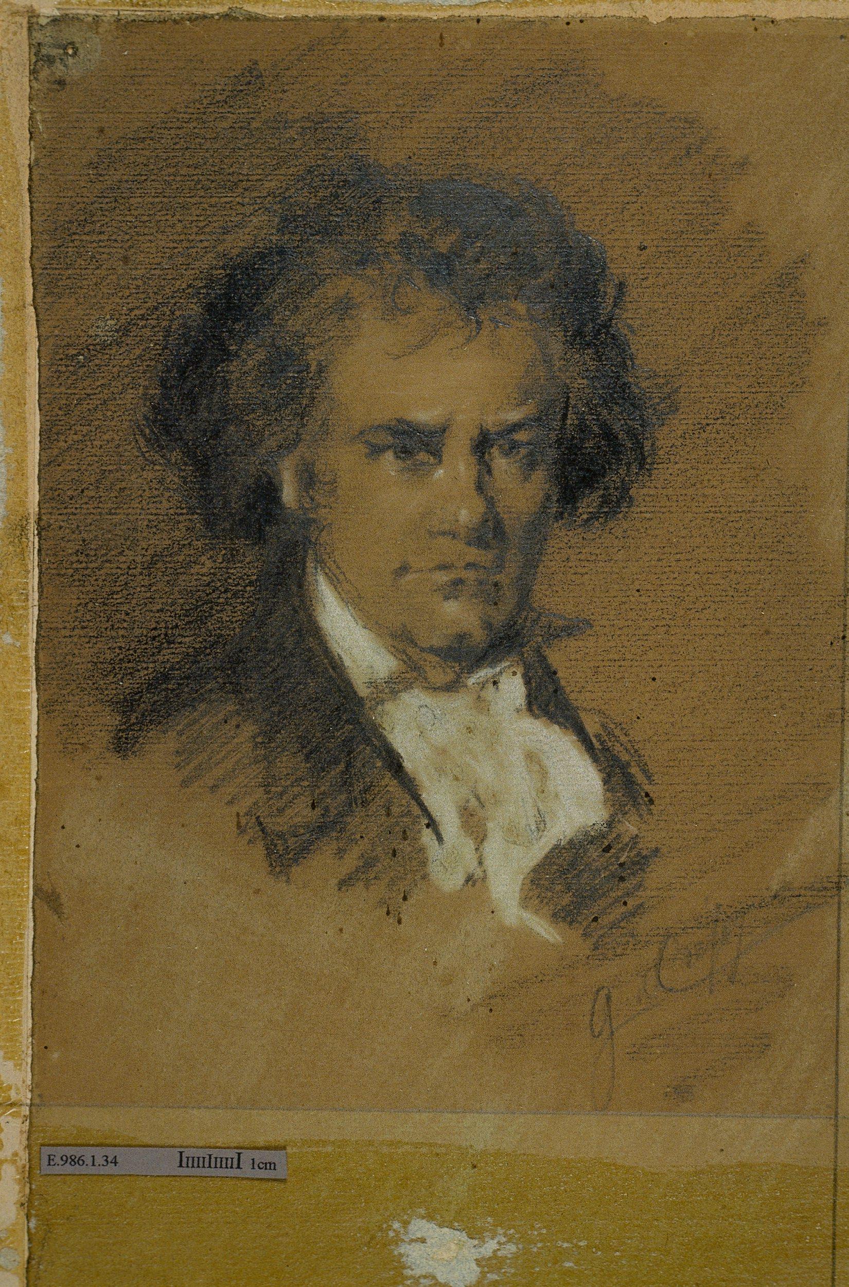 Portrait de Ludwig van Beethoven (1770-1827)   Anonyme