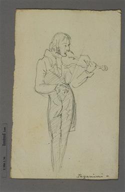 Portrait de Niccolò Paganini (1782-1840) | Ecole française