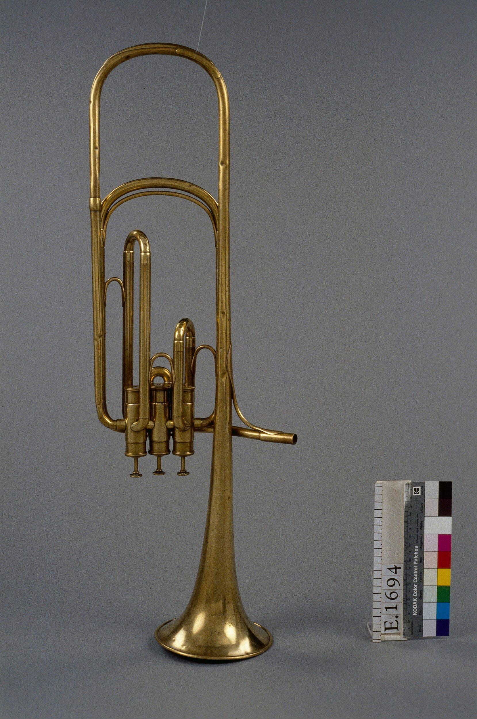 Trombone à pistons ténor en forme de saxotromba | Adolphe Sax