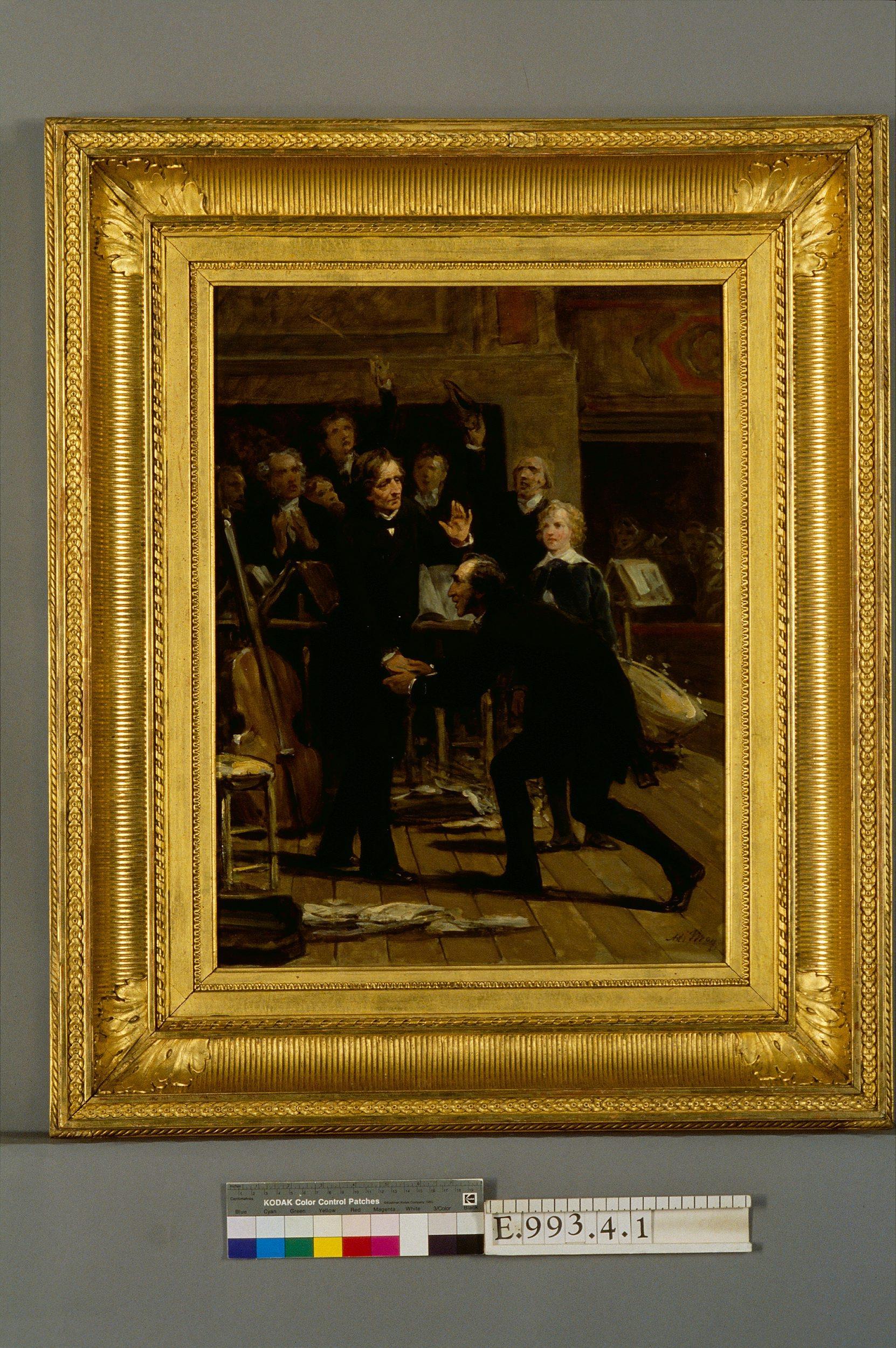 Hommage de Paganini à Berlioz lors du concert du 16 décembre 1838 | Yvon, Adolphe