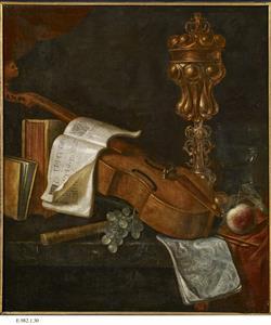 Nature morte aux instruments de musique   Ecole française