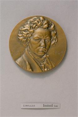 Médaille de Ludwig van Beethoven (1770-1827)   Coutin, Auguste