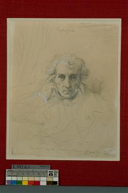 Portrait de Luigi Cherubini (1760-1842) | Ingres, Jean-Auguste-Dominique