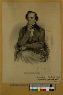 Portrait de Giacomo Meyerbeer (1791-1864) | Ecole française
