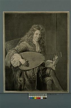 Portrait de Charles Mouton (1626-après 1699) | Edelinck, Gérard