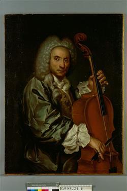 Portrait d'un violoncelliste   Ecole française