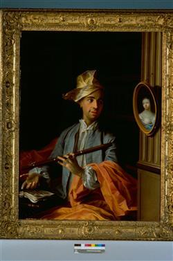 Portrait d'homme avec flûte | Ecole française