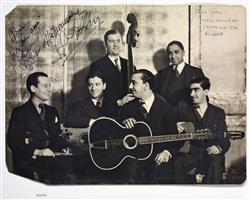 Photographie du quintet du Hot Club de France | Lasserre, Juliette