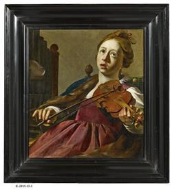 Tableau de Sainte Cécile jouant du violon | Crabeth, Wouter Pietersz II