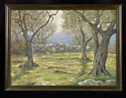 Paysage avec oliviers et muret | Mauclair, Camille